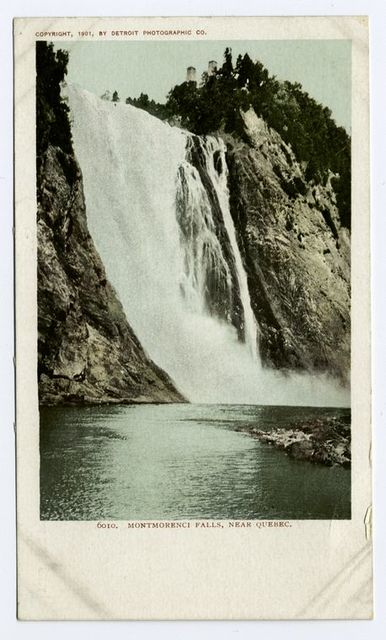 Cascade de Montmorenci, near, Quebec, P. Q.
