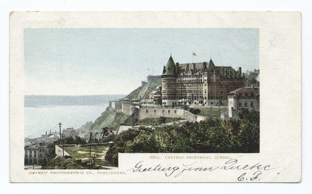 Chateau Frontenac, Quebec, Que.