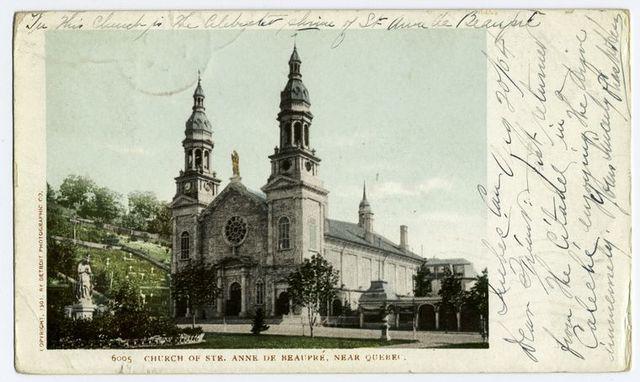 Church of Ste. Anne de Beaupre, near, Quebec, P. Q.