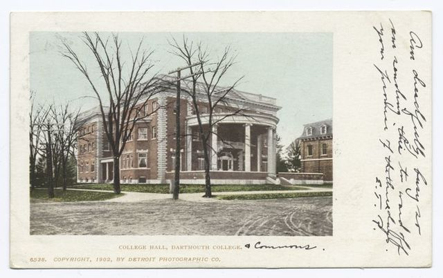 College Hall, Dartmouth Coll., Hanover, N. H.