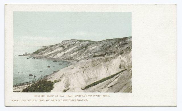 Colored Cliffs at Gay Head, Martha's Vineyard, Mass.