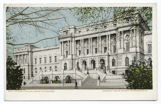Entrance Pavilion, Library of Congress, Washington, D. C.