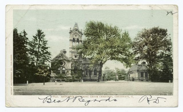 Entrance to Spring Grove Cemetery, Cincinnati, Ohio