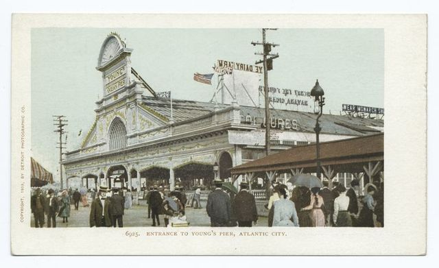 Entrance to Young's Pier, Atlantic City, N  J  | New York