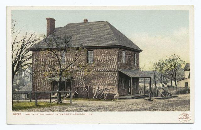 First Custom House in U. S. A., Yorktown, Va.