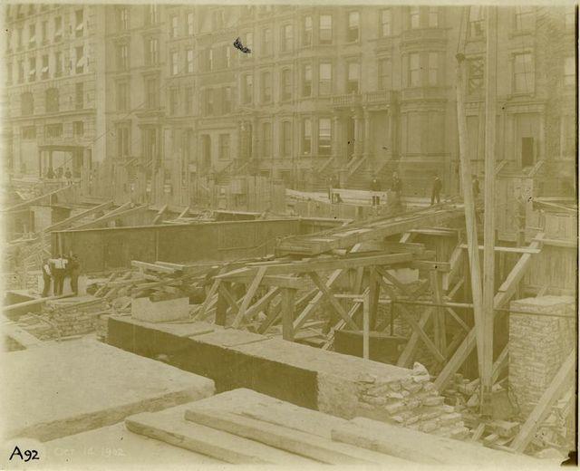 Foundation work, Fortieth Street side.