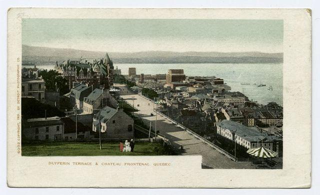 La Terasse, Dufferin St., Chateau Frontenac, Quebec, P. Q.
