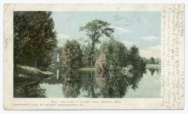 Lake at Palmer Park, Detroit, Mich.
