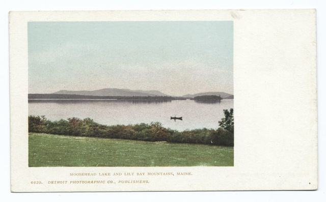 Lily Bay Mountains and, Moosehead Lake, Me.