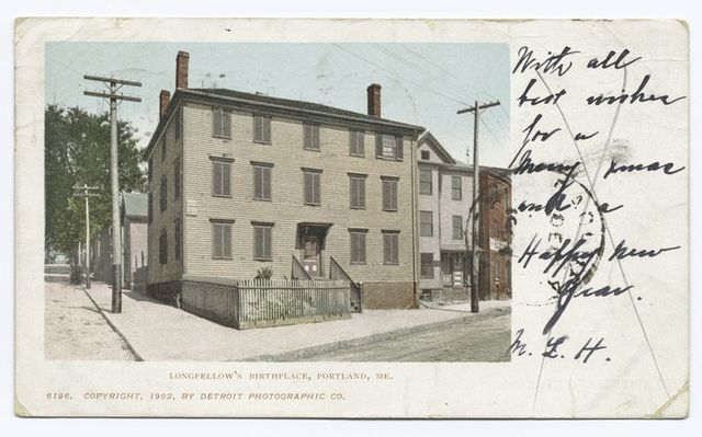 Longfellow's Birthplace, Portland, Me.
