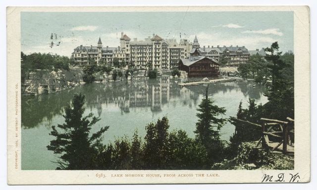 Mohonk House from across the Lake, Lake Mohonk, N. Y.
