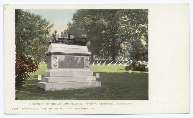 Monument to Andrew's Raiders, Nat. Cemetery, Chattanooga, Tenn.