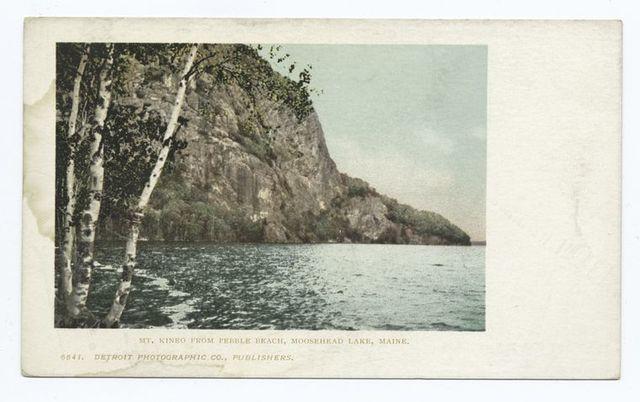 Mount Kineo from Pebble Beach, Moosehead Lake, Me.