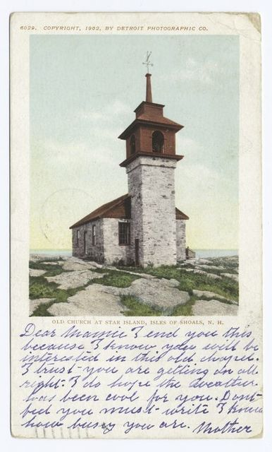 Old Church at Star Island, Isle of Shoals, N. H.