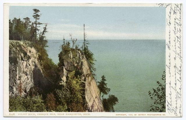 Pulpit Rock, Presque Isle, near, Marquette, Mich.