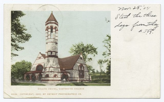 Rollins Chapel, Dartmouth Coll., Hanover, N. H.