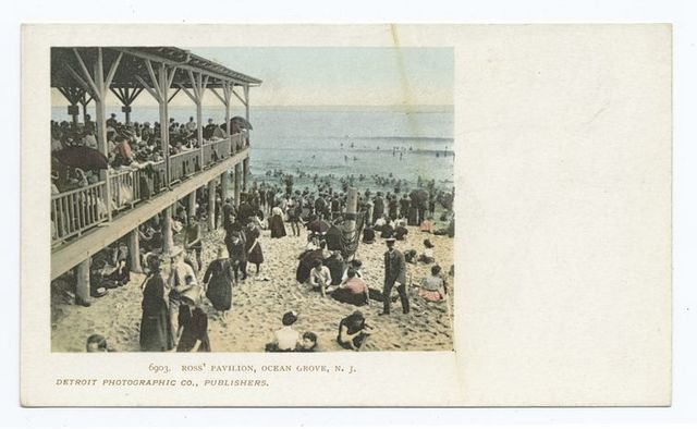 Ross Pavilion and Beach, Ocean Grove, N. J.