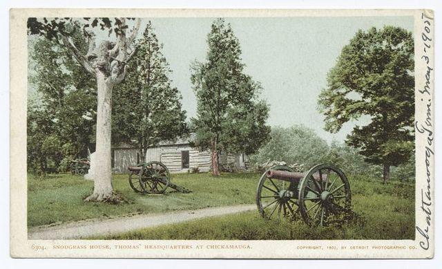 Snodgrass House, Thomas' Headquarters, Chicamauga, Tenn.