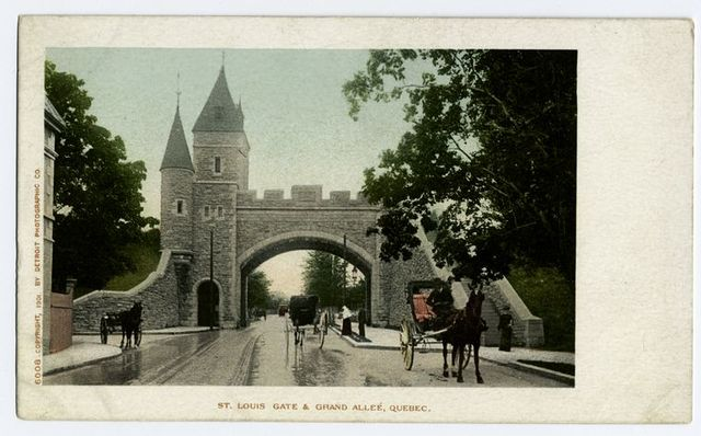 St. Louis Gate and Grand Allee, Quebec, P. Q.