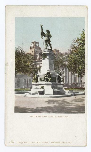 Statue of Maisonneuve, Montreal, Que.
