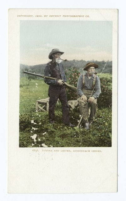 Turner and Lester, Famed Guide, Adirondacks, N. Y.