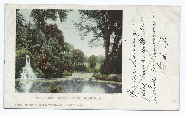 View in Spring Grove Cemetery, Cincinnati, Ohio