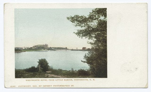 Wentworth Hotel from Little Harbor, Portsmouth, N.H.