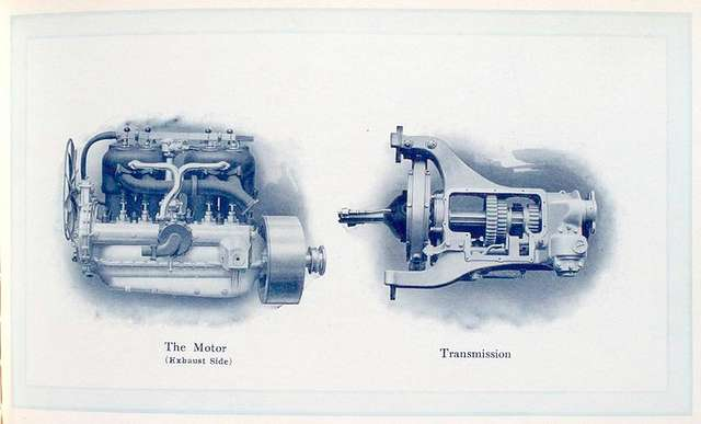 The Royal Tourist Cars; The motor (exhaust side); Transmission.