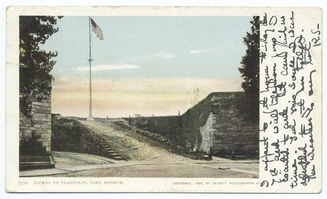 Ascent to flagstaff, Fort Monroe