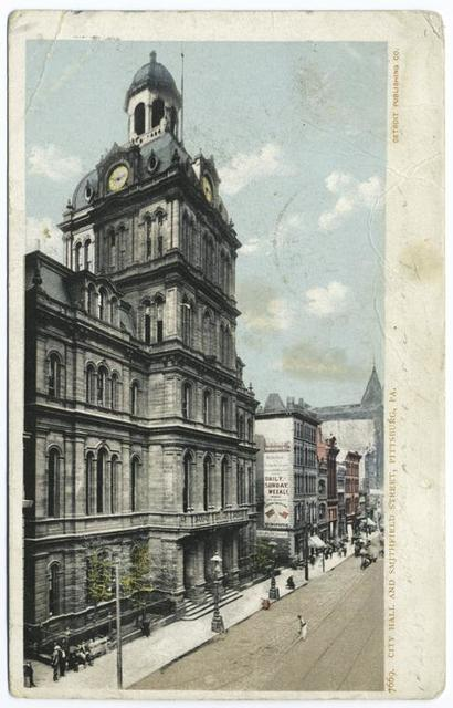 City Hall and Smithfield Street, Pittsburgh, Pa.