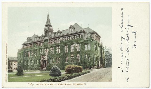 Dickinson Hall, Princeton Univ., Princeton, N. J.