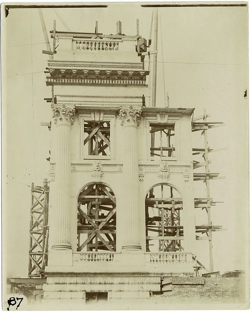 [Exterior marble work : plaster model of the south end of the Fifth Avenue facade.]