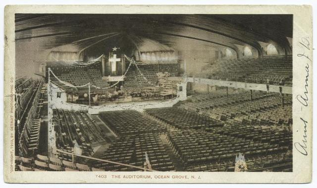 Interior of Auditorium, Ocean Grove, N. J.