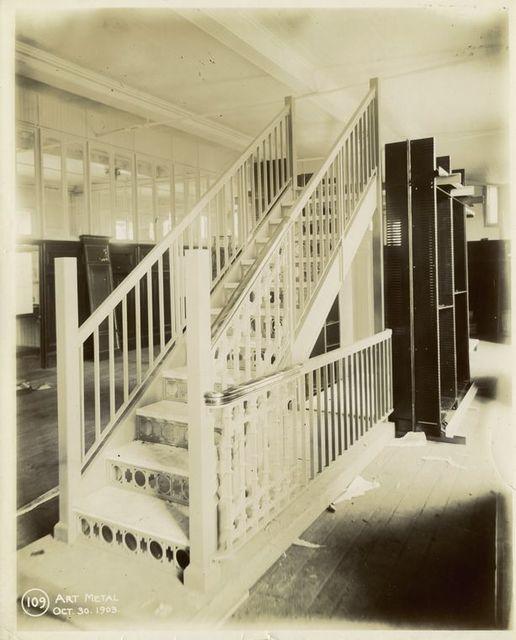 Interior work : construction of a stairway.