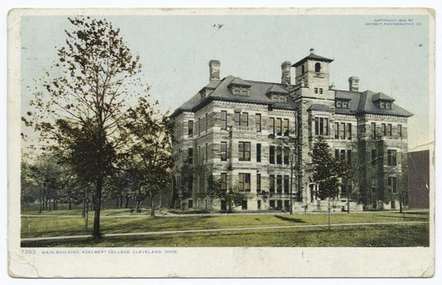 Main Building, Adelbert College, Cleveland, Ohio