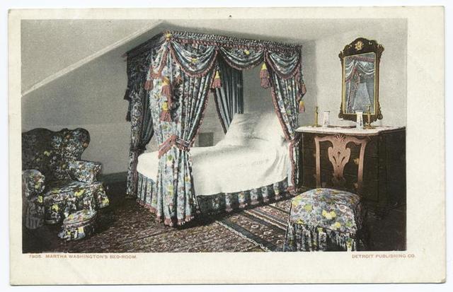 Martha Washington's Bed Room, Mt. Vernon, Va.