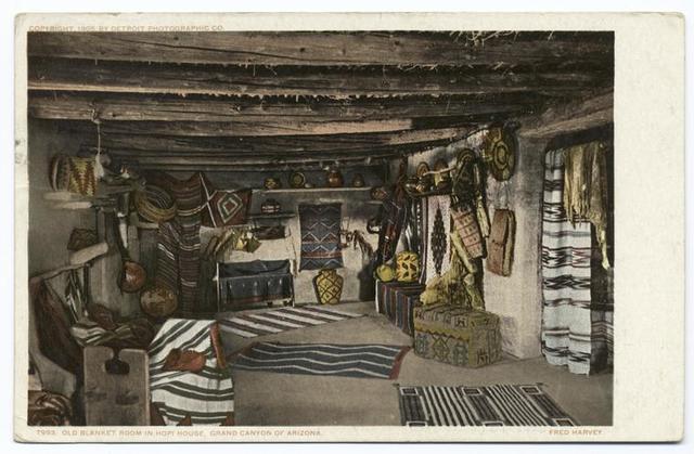 Old Blanket Room, Hopi House, Grand Canyon, Ariz.