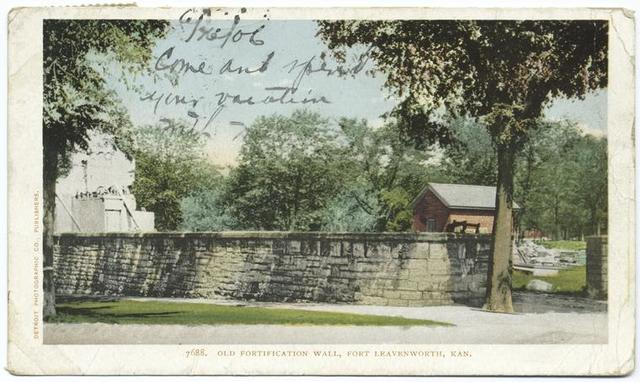 Old Fortification Wall, Ft. Leavenworth, Kans.