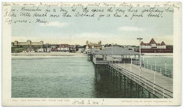 Old Orchard from Pier, Syracuse, N.Y.