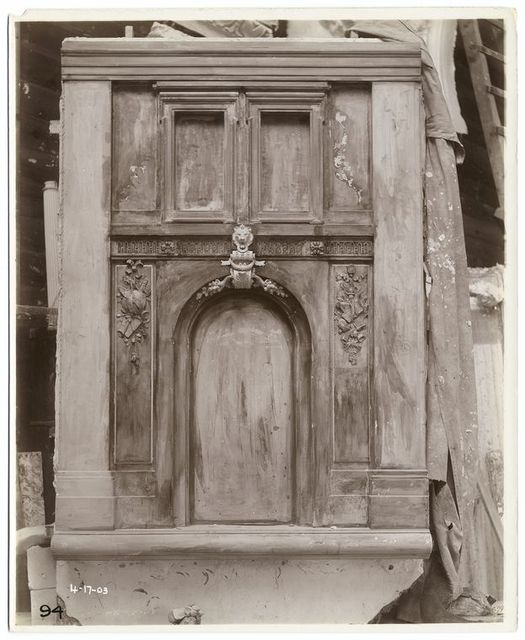 [Plaster model of a section of the Fifth Avenue facade.]