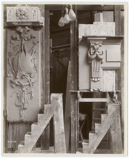 [Plaster models of architectural decorations.]