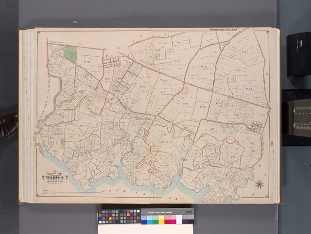 Queens, V. 1, Double Page Plate No. 17; Part of Jamaica, Ward 4; [Map bounded by Liberty Ave., Rockaway Tpk., Three Mile Mill Rd., Jamaica Bay, Spring Creek]