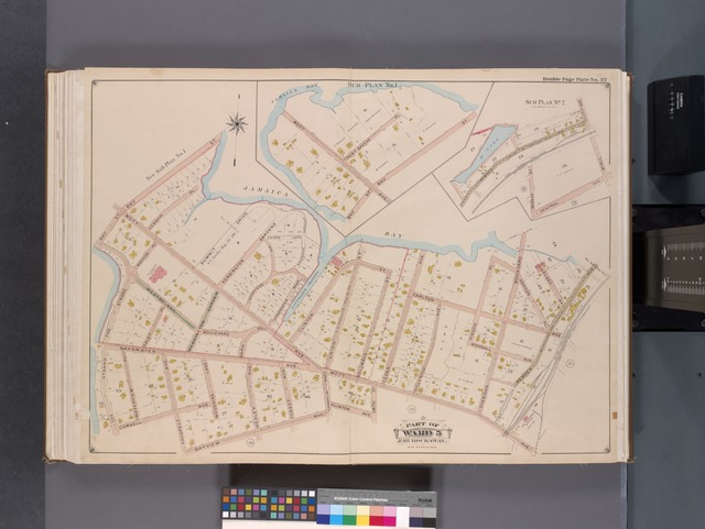 Queens, V. 1, Double Page Plate No. 22; Part of Far Rockaway, Ward 5; [Map bounded by Bay St., Jamaica Bay, Remsen Ave., Mott Ave., Bayview Ave., The Strand]