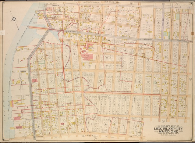 Queens, Vol. 2, Double page plate No. 7; Part of Long Island City Ward One (Part of Old Wards Three and Four); [Map bounded by Jamaica Ave., Rapelje Ave. (4th Ave.), Washington Ave., Webster Ave.; Including Rutledge St., Graham Ave., Vernon Ave., Boulevard]