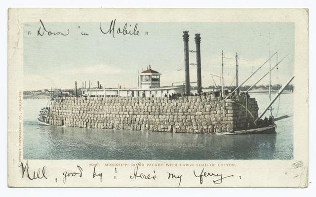 River Packet, Load of Cotton, South
