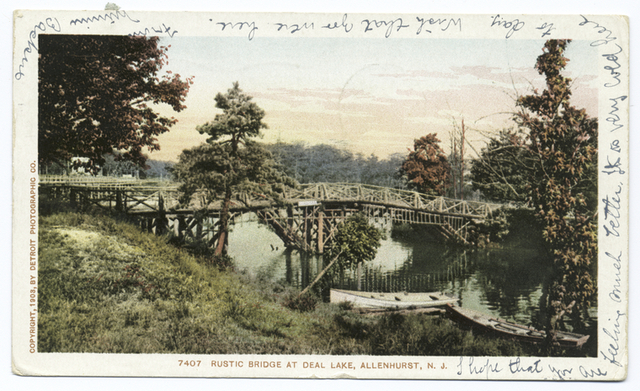 Rustic Bridge at Deal Lake, Allenhurst, N. J.