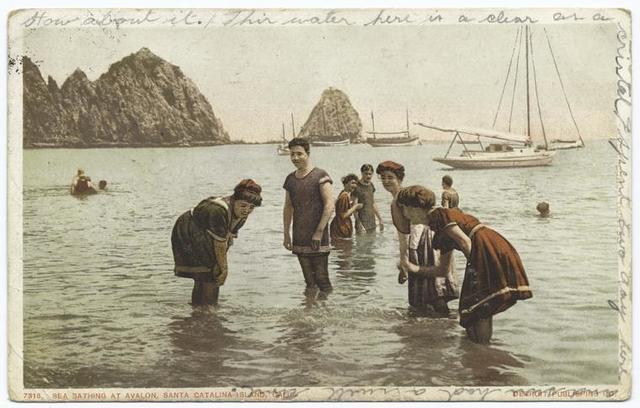 Sea Bathing, Avalon, Santa Catalina, Calif.