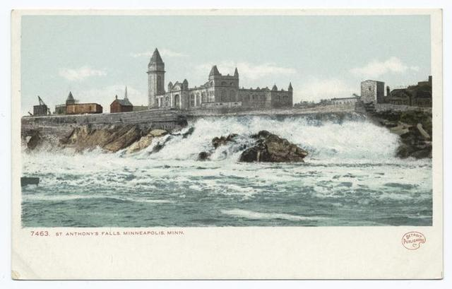 St. Anthony's Falls and Exposition Building, Minneapolis, Minn.