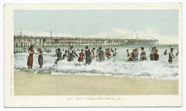 Surf Bathing, Long Beach, Calif.