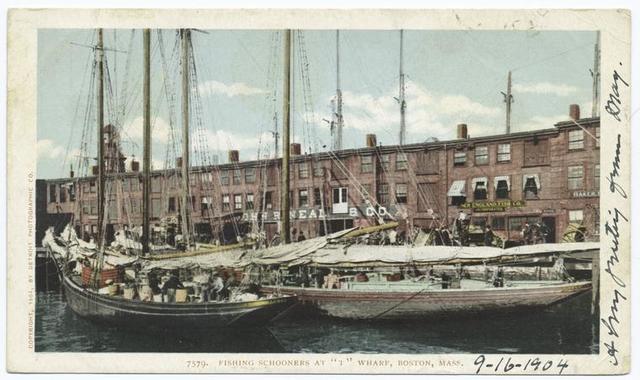 T Wharf Fishing Schooners, Boston, Mass.